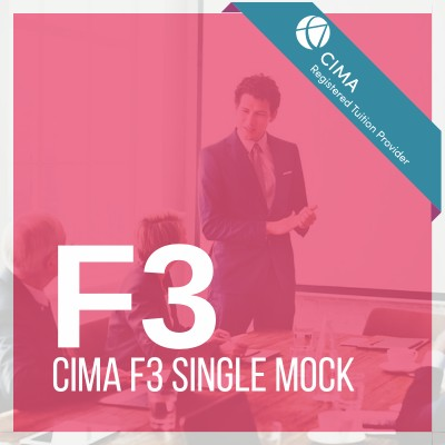 CIMA F3 Single Mock 2019